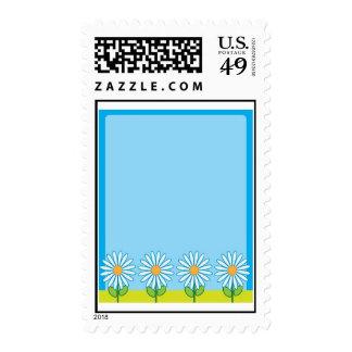 Daisy Border Frame Stamps