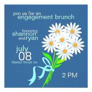 Daisy Bouquet Engagement Brunch Invitations
