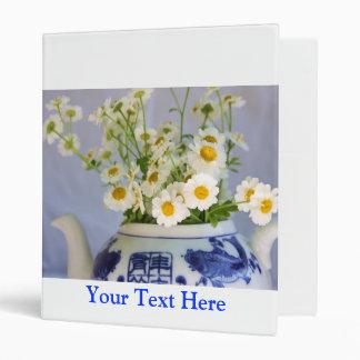Daisy Bouquet in a Teapot Vinyl Binders