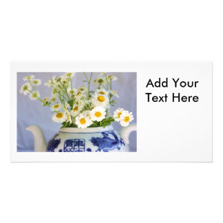 Daisy Bouquet in a Teapot Picture Card