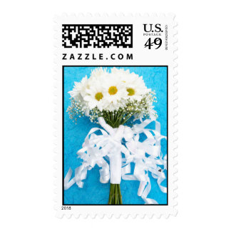 Daisy Bridal Bouquet Postage Stamp