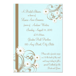Daisy Bridal Shower Card