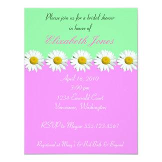 "Daisy Bridal Shower Invitation 4.25"" X 5.5"" Invitation Card"
