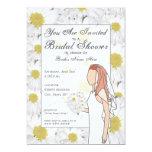 "Daisy Bridal Shower Invitation - Red Hair 5"" X 7"" Invitation Card"