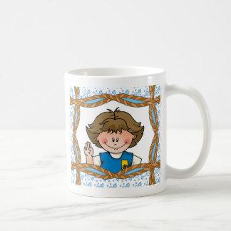 Daisy Brunette Classic White Coffee Mug