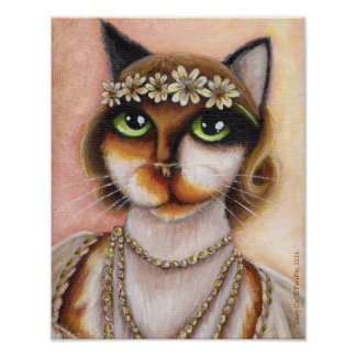 Daisy Buchanan Calico Cat Great Gatsby Roaring 20s Poster