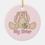 Daisy Bunny Big Sister Ornament