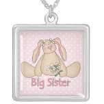 Daisy Bunny Big Sister Pendant