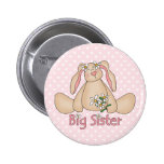Daisy Bunny Big Sister Pinback Buttons