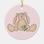 Daisy Bunny Christmas Tree Ornaments
