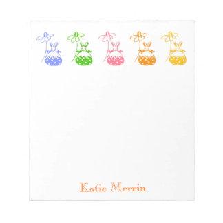 Daisy bunny note pad