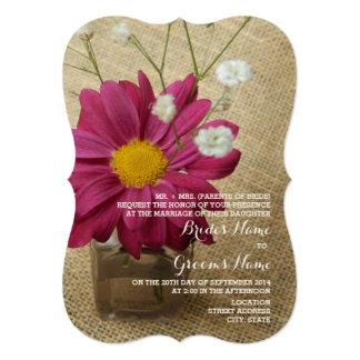 Daisy + Burlap Vintage Apothecary Bottle Wedding Card