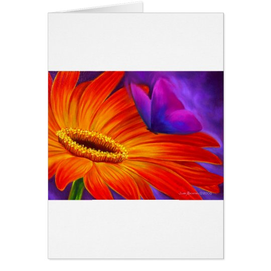 DAISY & BUTTERFLY ART PAINTING - MULTI CARD