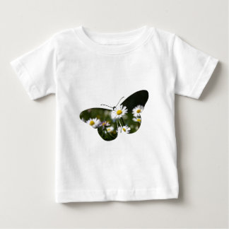 Daisy Butterfly Collage Baby T-Shirt