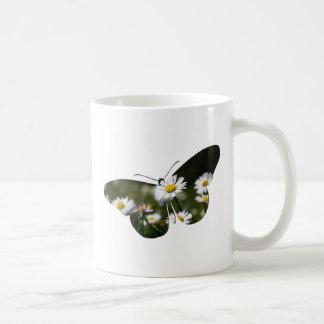 Daisy Butterfly Collage Coffee Mug