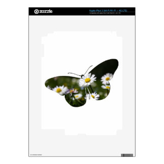 Daisy Butterfly Collage Decals For iPad 3