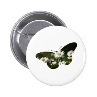 Daisy Butterfly Collage Pinback Button