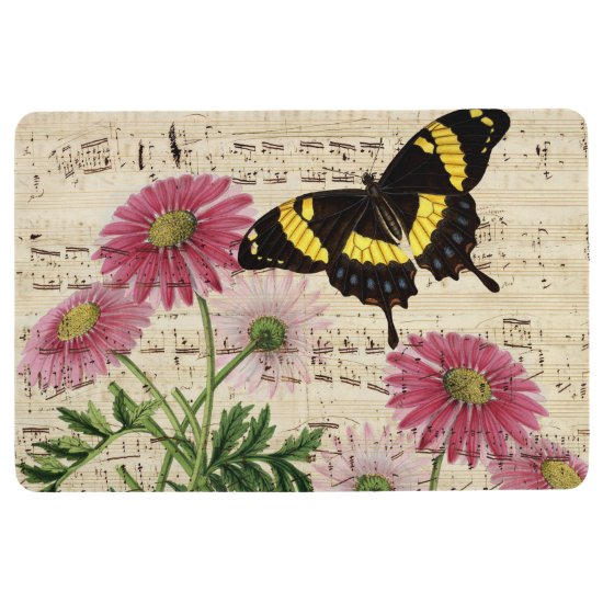 Daisy Butterfly Music Floor Mat