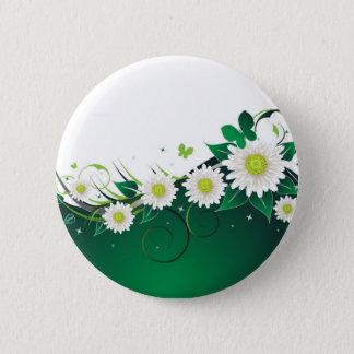 Daisy Butterfly Pinback Button