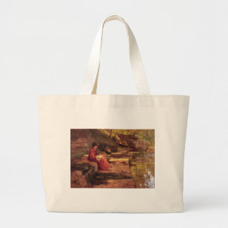 Daisy by the River by Theodore Clement Steele Tote Bag