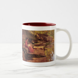 Daisy by the River by Theodore Clement Steele Two-Tone Coffee Mug