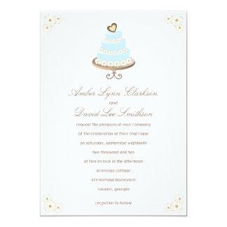 Daisy Cake Wedding Invitation