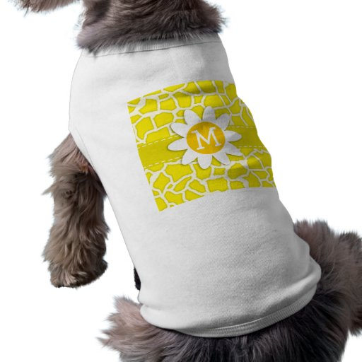 Daisy; Canary Yellow Giraffe Animal Print Pet Clothes