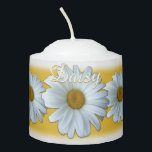 """Daisy Candles Custom Daisy Flowers Candle<br><div class=""""desc"""">Daisy Candles Personalized Daisy Flowers Candles Your Name Here Daisy Candles Gifts Customized Yellow Summer Flowers Gifts & Keepsake for Men Women Kids Friends Family Home & Office Your Name Here Wildflowers Candles Click """"Customize"""" to Add Text Choose Fonts and Custom Colours Beautiful Personalized Daisy Candles & Custom Flower Gifts...</div>"""