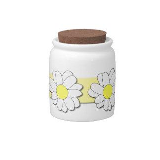 Daisy Candy Jar