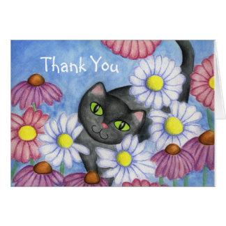 Daisy Cat Thank You Card