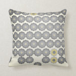 Daisy Chain in Grey and Yellow Pillows