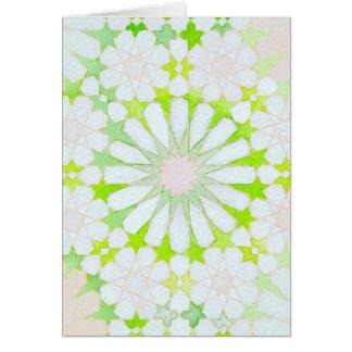 """""""Daisy Chain"""" Islamic geometry greeting card"""