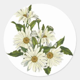 Daisy Cluster Classic Round Sticker