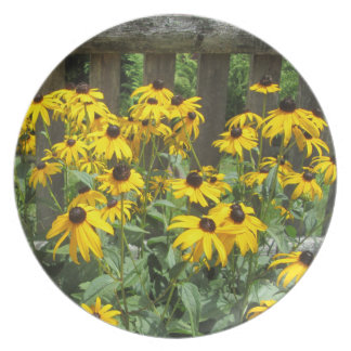 Daisy Cluster Weathered Fence Dinner Plate