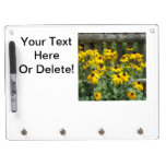 Daisy Cluster Weathered Fence Dry Erase Board