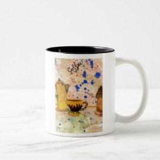Daisy Coffee Set - CricketDiane coffee folk art Two-Tone Coffee Mug