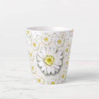 Daisy collage latte mug