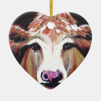 Daisy cow.JPG Ceramic Ornament