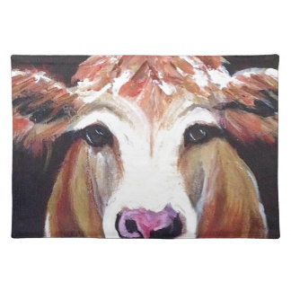 Daisy cow.JPG Cloth Placemat