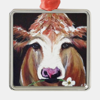 Daisy cow.JPG Metal Ornament