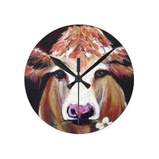 Daisy cow.JPG Round Clock
