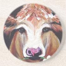 Daisy cow.JPG Sandstone Coaster