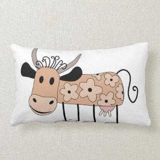 Daisy Cow Lumbar Pillow