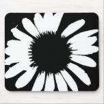"Daisy Crazy - Black &amp; White Daisy Mouse Pad<br><div class=""desc"">Daisy Crazy - Black &amp; White Daisy Mouse Pad.  By BrattiGrl</div>"