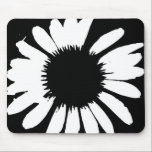 "Daisy Crazy - Black &amp; White Daisy Mouse Pad<br><div class=""desc"">Daisy Crazy - Black &amp; White Daisy Mouse Pad.  By BrattiGrl</div>"
