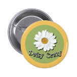Daisy Crazy Pinback Buttons