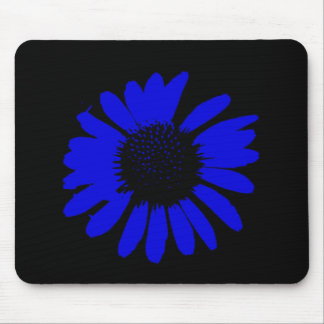 """Daisy Crazy"" - Royal Blue Mouse Pad"