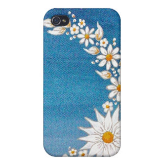 Daisy Crescent Moon iPhone 4/4S Case