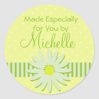 Daisy Custom Gift label Classic Round Sticker