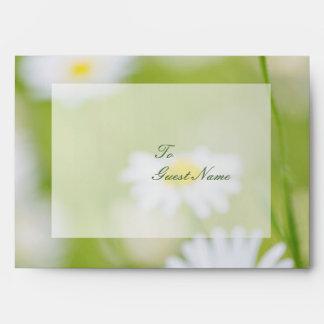 Daisy Daisies Flower Floral Summer Wedding Envelope